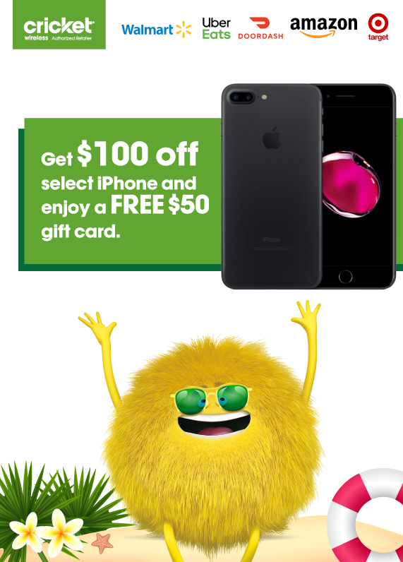 $100 off select iPhones + $50 Gift card
